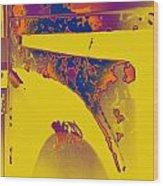 Boba Fett Helmet 6 Wood Print
