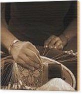 Bobbin Lace At Old Rauma Wood Print