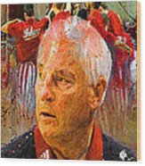 Bobby Knight Indiana Legend Wood Print