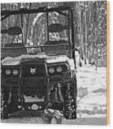 Bobcat Atv In Winter Wood Print