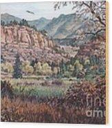 Bobcat Ridge Wood Print by W  Scott Fenton