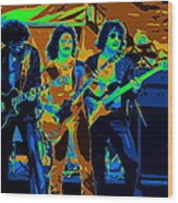 Boc #3 Enhanced In Cosmicolors Crop 2 Wood Print