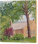 Bockrath-weise House Impressionistic Oil Painting Wood Print