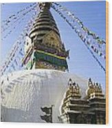 Bodhnath Stupa Wood Print
