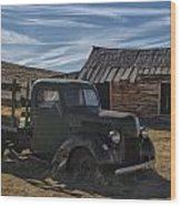 Bodie Abandoned Truck Wood Print