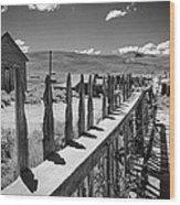 Bodie California Long Dusty Road Wood Print