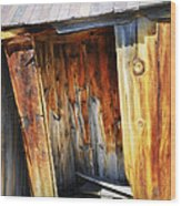 Bodie Decaying Privy Wood Print