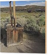 Bodie Ghost Town At The Well Wood Print