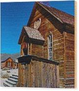 Bodie Ghost Town Church Wood Print