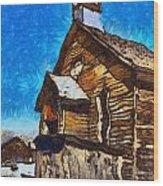 Bodie Ghost Town Methodist Church Wood Print