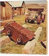 Bodie Ghost Town Ore Car Wood Print
