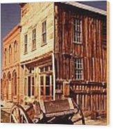 Bodie Ghost Town Wagon Wood Print