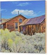 Bodie House And Sage Wood Print