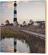 Bodie Island Lighthouse - Cape Hatteras Outer Banks Nc Wood Print