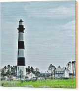 Bodie Island Lighthouse - Outer Banks North Carolina Wood Print