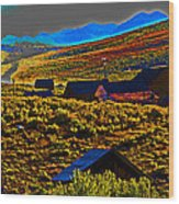 Bodie Sunset Wood Print