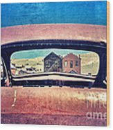 Bodie Through Car Window Wood Print