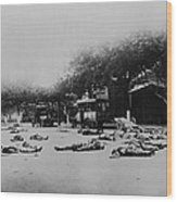 Bodies Of Chinese Communists Lie Wood Print