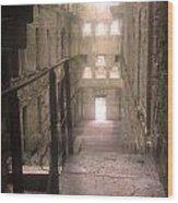 Bodmin Jail Looking In Wood Print