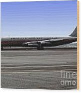 Boeing 707 American Airlines Freight Aal Wood Print
