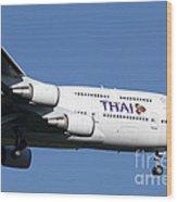 Boeing 747-400 Of Thai International Wood Print