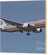 Boeing 767 Of American Airlines Wood Print