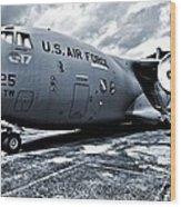 Boeing C-17 Airplane Wood Print