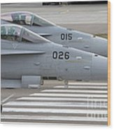 Boeing Fa-18 Hornets Of The Swiss Air Wood Print
