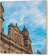 Bogota Cathedral Front Wood Print