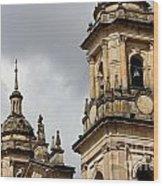 Bogota Cathedral Towers Wood Print