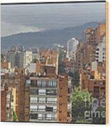 Bogota City View Wood Print