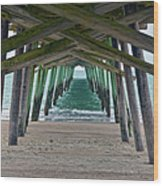 Bogue Banks Fishing Pier Wood Print