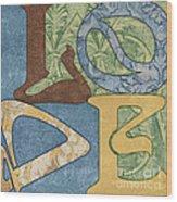 Bohemian Love Wood Print by Debbie DeWitt
