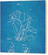 Bohlin Seatbelt Patent Art 1962 Blueprint Wood Print by Ian Monk