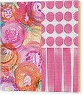 Boho Flower Patchwork- Watercolor Art Wood Print