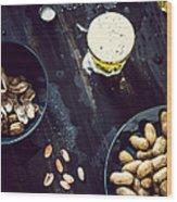 Boiled Peanuts And Beer Wood Print