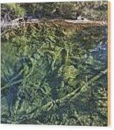 Boiling Emerald Pools Wood Print
