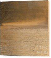 Boise River Sunrise Wood Print