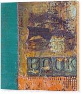Book Cover Encaustic Wood Print
