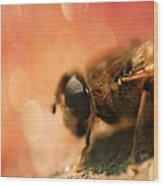 Bokeh Bee Wood Print