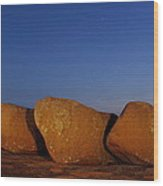 Bold Boulders Wood Print