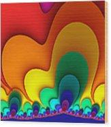 Bold Colors Fractal Wood Print