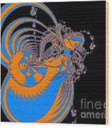 Bold Energy Abstract Digital Art Prints Wood Print