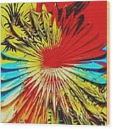 Bold Floral Hat Abstract Wood Print