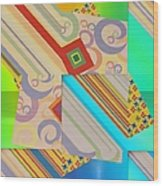 Bold Geometric Abstract  Wood Print