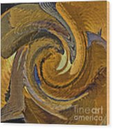 Bold Golden Abstract Wood Print
