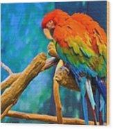 Bold Parrot Wood Print