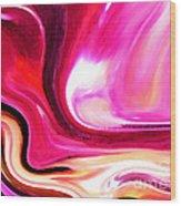 Bold Pink Abstract Wood Print