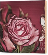 Bold Pink Rose Bouquet Wood Print