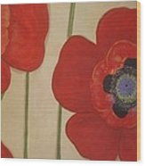 Bold Poppies Wood Print